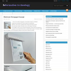 Electronic Newspaper Concept