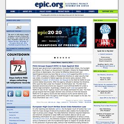 EPIC - Electronic Privacy Information Center