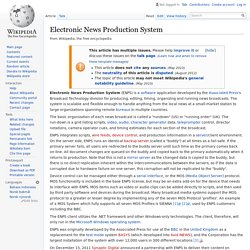 Electronic News Production System