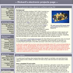 Rickard's electronic projects page - How to generate composite video signals in software using PIC.