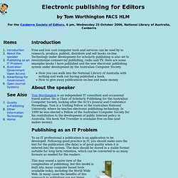 Publishing Article