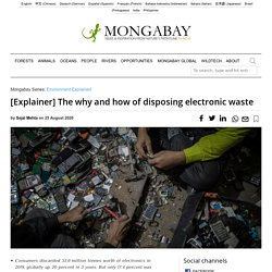 Electronic waste: the need to reuse, repair, recycle and safely dispose