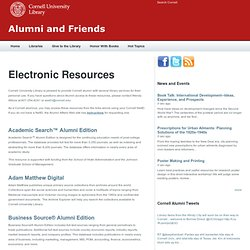 Electronic Resources | Alumni and Friends
