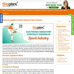 Electronic Signature Contract Signing In Sports Industry