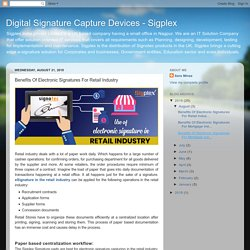 Benefits Of Electronic Signatures For Retail Industry