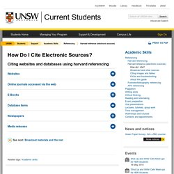 How Do I Cite Electronic Sources?