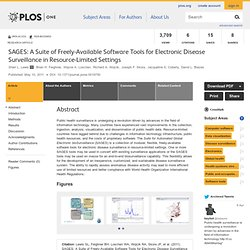 SAGES: A Suite of Freely-Available Software Tools for Electronic Disease Surveillance in Resource-Limited Settings