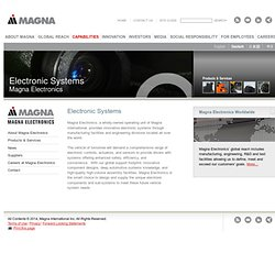 Electronic Systems | Magna International Inc. | Magna International Inc.
