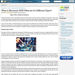 What is Electronic PCB? What are it's Different Types? by Melriya Techsolutions