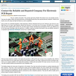 Contact the Reliable and Reputed Company For Electronic PCB Repair by Melriya Techsolutions