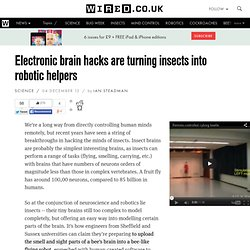 Electronic brain hacks are turning insects into robotic helpers
