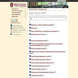Wisconsin - Electronic Resources