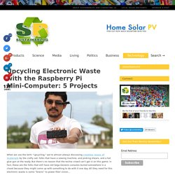 Electronic Waste Gets a New Life with a Raspberry Pi