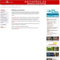 Biblioteca electrónica de la Red de Bibliotecas del Instituto Cervantes