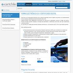 Firma Electrónica SII / Certificado Digital