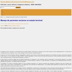 Manejo de pacientes ancianos en estado terminal - Revista Médica Electrónica PortalesMedicos.com