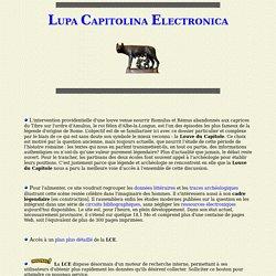 Lupa Capitolina Electronica . Présentation.