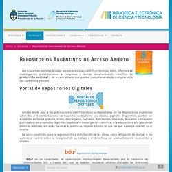 Repositorios Nacionales de Acceso Abierto
