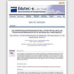 e. Revista Electrónica de Tecnología Educativa