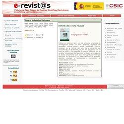 e-Revistas. Plataforma Open Access de Revistas Científicas Electrónicas Españolas y Latinoamericanas