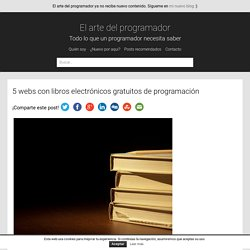 5 webs con libros electrónicos gratuitos de programación