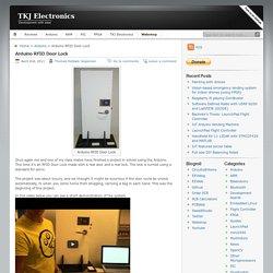 TKJ Electronics » Arduino RFID Door Lock