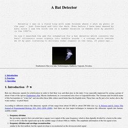 Electronics: Bat detector