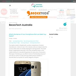 Consumer Electronics Products Reviews - BecexTech Australia - National Directory