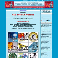 GSSTechEd.com - Electronics Kits, Electronic Projects, Electronics Technician Certification Home Study Training, Basic Electronics