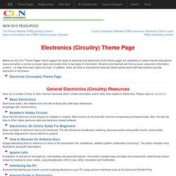 Electronics (Circuitry) Theme Page
