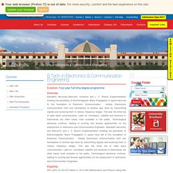 Electronics and Communication Engineering College in UP