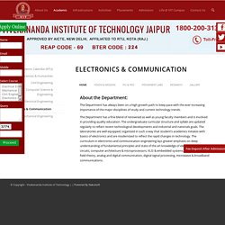 B.tech in Electronics & Communication