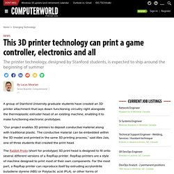 This 3D printer technology can print a game controller, electronics and all