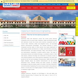 Top Electronics Engineering Diploma University in Bareilly