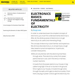 Electronics Basics: Fundamentals of Electricity - dummies