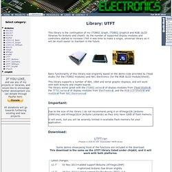 UTFT - Electronics - Henning Karlsen