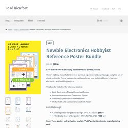 Newbie Electronics Hobbyist Reference Poster Bundle