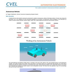 Clemson Vehicular Electronics Laboratory: Autonomous Vehicles