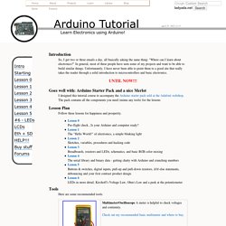 Arduino Tutorial - Learn electronics and microcontrollers using Arduino!