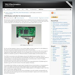 TKJ Electronics » LVDS Display controller for microprocessors