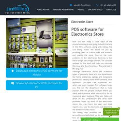 Electronics POS software for mobile shop and digital stores