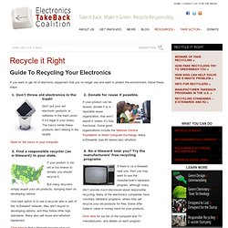 Recycle it Right – Electronics TakeBack Coalition