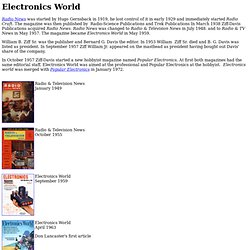 Electronics World Magazine