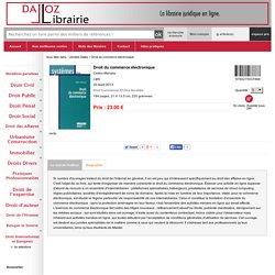 """""""Droit du commerce électronique"""" de Cedric Manara (livre)"""