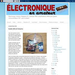 Carte SD et Arduino