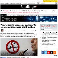 Vapoteuse : le succès de la cigarette électronique menacé par Bruxelles