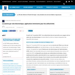 [Article + schéma] - La saisine par voie électronique, application imminente pour les collectivités