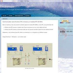 Electronique: Communication sans fil entre 2 PIC à travers un modules RF 433 MHz