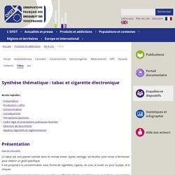 Tabac et cigarette électronique - Synthèse des connaissances