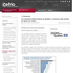Le commerce électronique au Québec : croissance des achats en ligne sur mobile